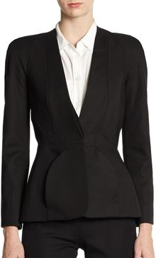 Zac Posen Paneled Round shoulder Jacket - Lyst