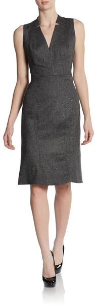 Zac Posen Sleeveless V-neck Sheath Dress - Lyst