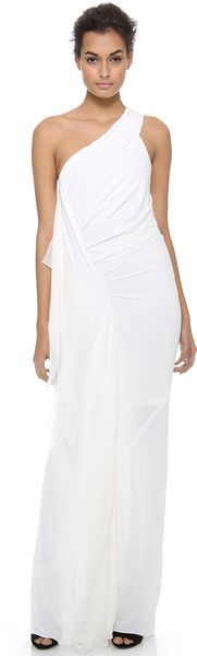 Donna Karan New York One Shoulder Draped Evening Gown - Lyst