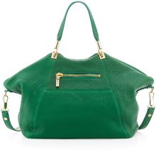 Elizabeth And James Cynnie Leather Satchel Bag Green - Lyst