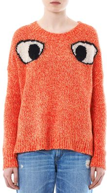 Elizabeth And James Googley Eyes Sweater - Lyst