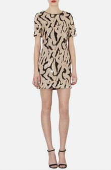 Topshop Patterned Sequin Tshirt Dress - Lyst