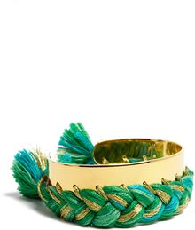 Aurelie Bidermann Braided Gold Bracelet - Lyst