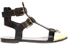 Balmain 10mm Seona Python Leather Sandals - Lyst