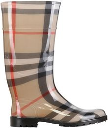 Burberry 30mm Lisbon Check Rubber Boots - Lyst