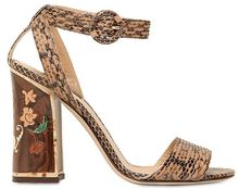 Dolce & Gabbana 105mm Wood Inlay Ayers Sandals - Lyst