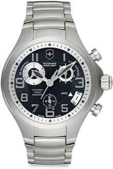 Victorinox Base Camp Chronograph Stainless Steel Watch - Lyst
