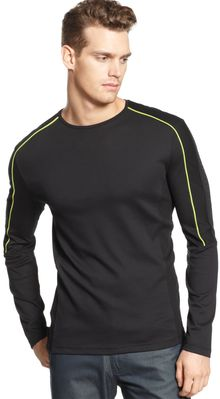 Calvin Klein Liquid Interlock Logo Shirt - Lyst