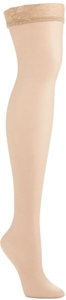 Donna Karan New York Thigh High Stockings - Lyst