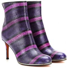 Givenchy Nadi Striped Snake Leather Ankle Boots - Lyst