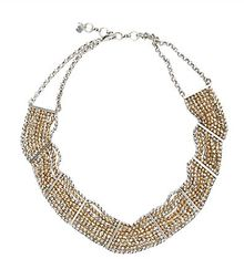 Lucky Brand Ttone Beaded Collar Neckl - Lyst
