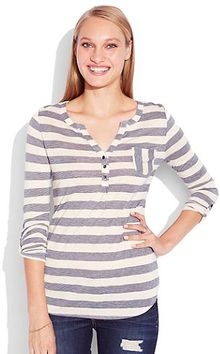 Lucky Brand Stripe Dallas Pocket Top - Lyst