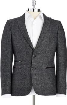 7 Diamonds Tweed Blazer - Lyst