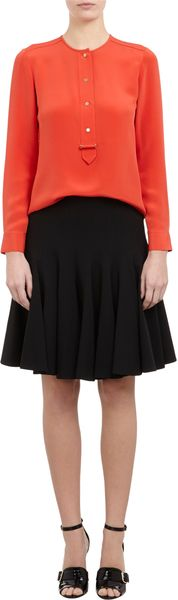 Derek Lam Button Front Blouse - Lyst