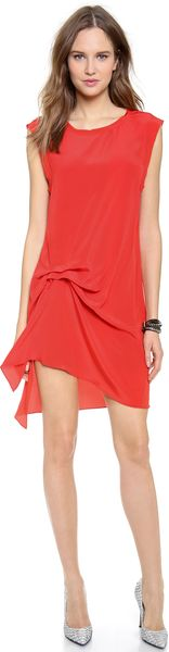 Haute Hippie Gathered Muscle Dress - Lyst