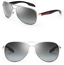 Prada Linea Rossa Polarized Lifestyle Aviator Sunglasses - Lyst