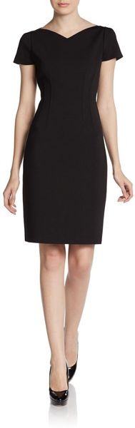 Tahari Yarden Shortsleeve Dress - Lyst