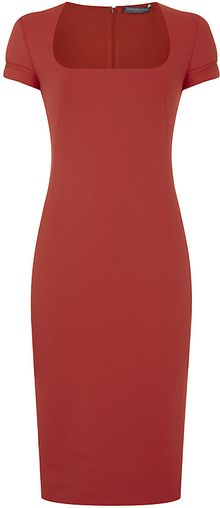 Alexander McQueen Scuba Sheath Dress - Lyst