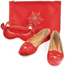 Charlotte Olympia Sweet Dreams Kitty Slippers and Eye Mask - Lyst