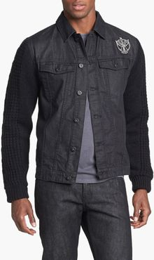 Insight Revival Denim Jacket with Knit Sleeves - Lyst