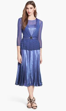 Komarov Charmeuse Dress Chiffon Jacket - Lyst