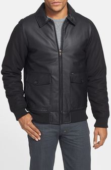 Obey Down Town Bomber Ii Faux Leather Jacket - Lyst