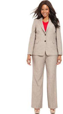 Tahari Two button Blazer Pants Suit - Lyst