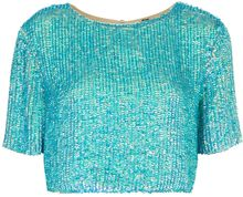 Topshop Sequin Split Back Tee - Lyst