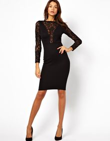 Asos Asos Sequin and Lace Midi Bodycon Dress - Lyst