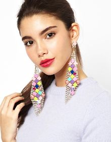 Asos Modern Cube Chandelier Earrings - Lyst