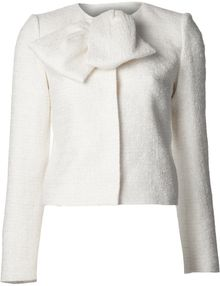 Giambattista Valli Boucle Bow Jacket - Lyst