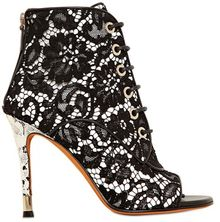 Givenchy 100mm Nappa Macramé Open Toe Boots - Lyst
