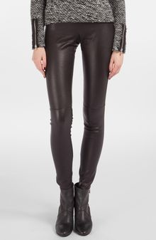 Maje Smart Leather Pants - Lyst