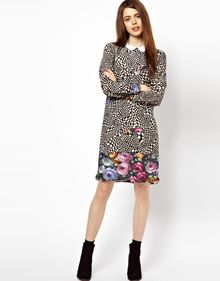 Paul By Paul Smith Check Rose Dress with Collar - Lyst