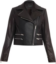 Rag & Bone Hudson Leather Biker Jacket - Lyst
