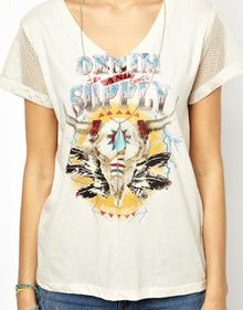 Ralph Lauren Tshirt with Contrast Sleeves - Lyst