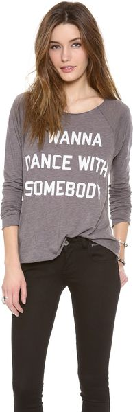 Wildfox Dance with Somebody Tee - Lyst