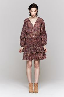 Zimmermann Instinct Shirred Dress - Lyst