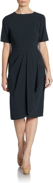 Armani Wool Wrap Effect Dress - Lyst
