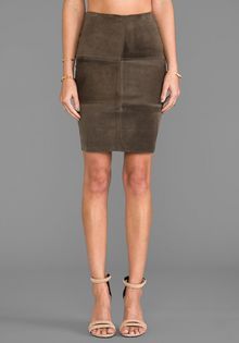 Bailey 44 No Snoring Skirt in Army - Lyst