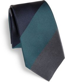 Burberry Diagonal Stripe Silk Tie - Lyst