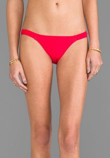 Charlie By Matthew Zink Jerry Banded Bikini Bottoms in Red - Lyst