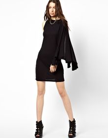 Cheap Monday Cape Sleeve Dress - Lyst