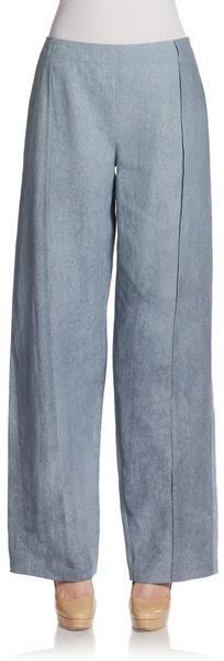 Donna Karan New York Wide Leg Pants - Lyst