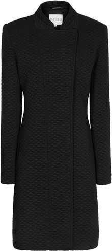 Reiss Vanity Quilted Jersey Long Coat - Lyst