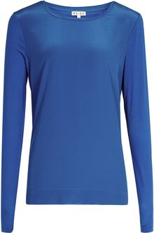 Reiss Katie Silk Front Long Sleeve Top - Lyst