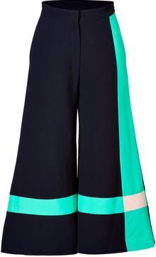 Roksanda Ilincic Cotton Blend Colorblocked Wide Leg Pants - Lyst