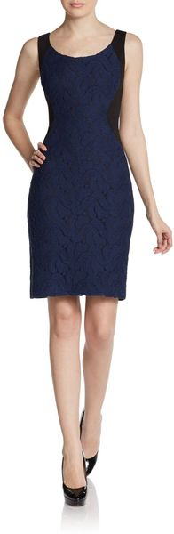 Tahari Bernice Sleeveless Lace Dress - Lyst