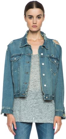 Acne Tram Denim Jacket - Lyst