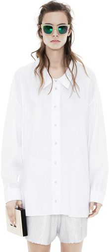 Acne Roni Poplin Optic White - Lyst